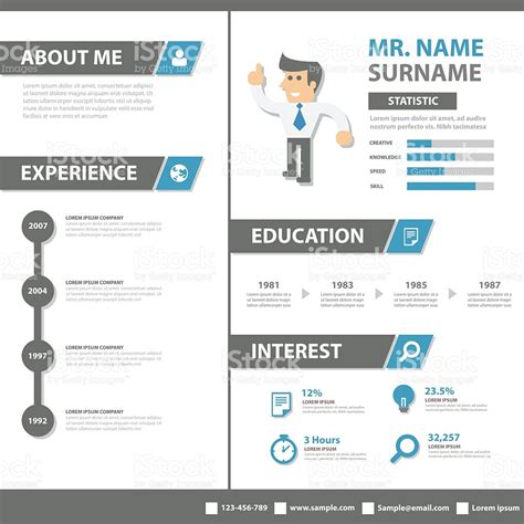 curriculum vitae flat design creative resume business profile cv vitae template layout