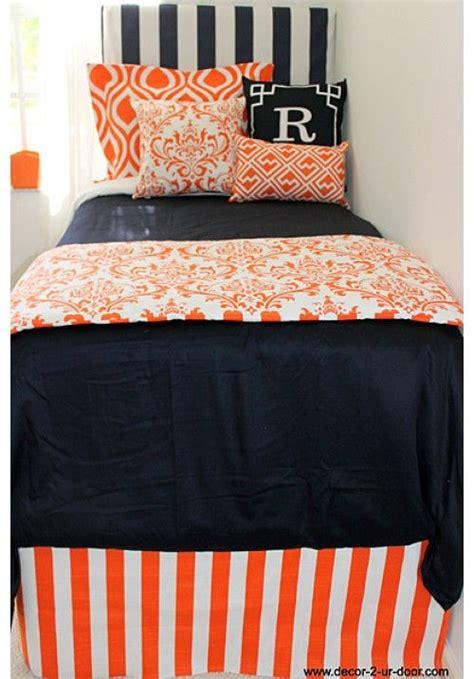 navy and orange bedding auburn university designer teen dorm bed in a bag teen