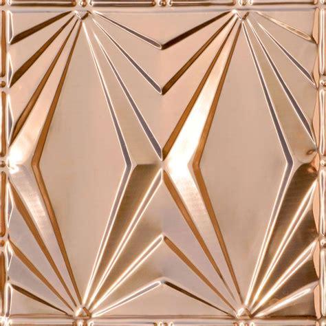 art deco triangles copper ceiling tile 2403