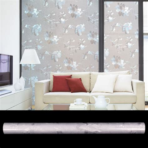 window glass cover new 60 x 200cm frosted flower glass window cover