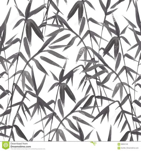 japanese pattern black and white bamboo seamless japanese pattern on green background stock
