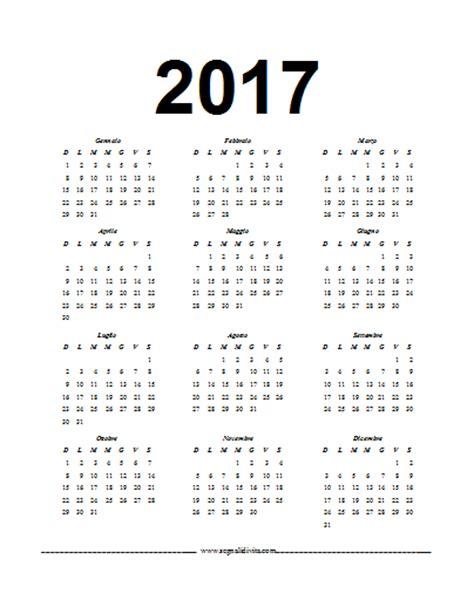 Calendario In Calendario In Pdf 2017
