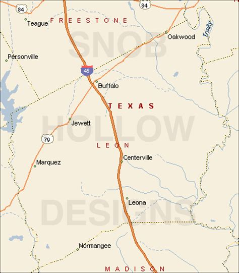 leona texas map county texas color map