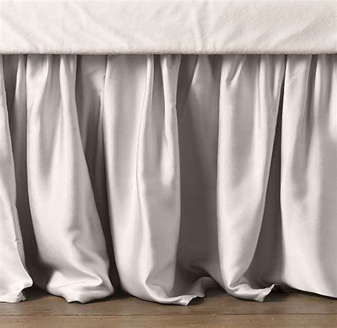 Satin Skirt Crib Bed Skirt And Cribs Beds On Pinterest Bed Skirts For Cribs