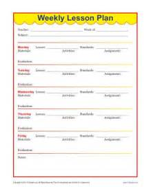 Lesson Plan Template Elementary School by Weekly Detailed Lesson Plan Template Elementary