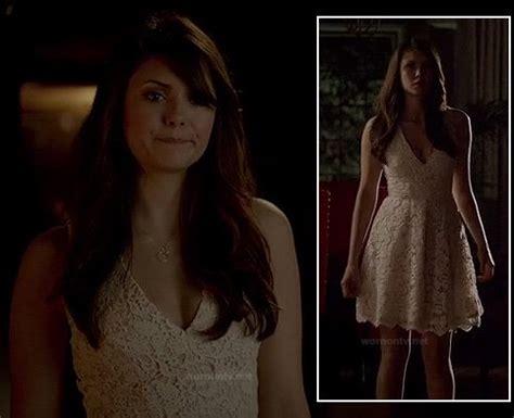 Dress Elaina Dress 126 wornontv elena s white lace graduation dress on the