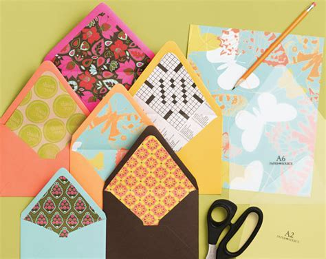 How to make envelope liners   Paper Source Blog