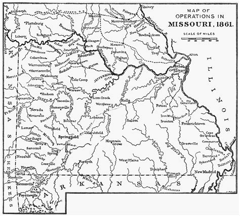 Missouri Civil Search Missouri In 1861