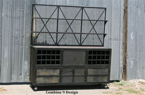 Industrial Style Bar Cabinet Buy A Made Mid Century Modern Vintage Industrial Liquor Cabinet With Hutch Steel Reclaimed
