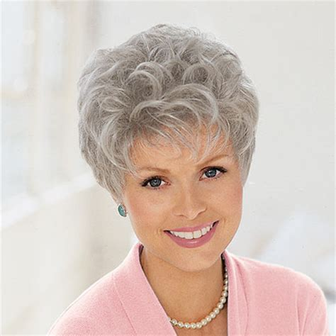 shor wigs for women over 60 wigs for older women grey thinning hair picture short