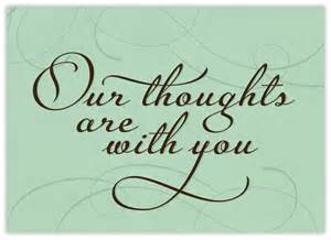 thoughts are with you sympathy cards from cardsdirect