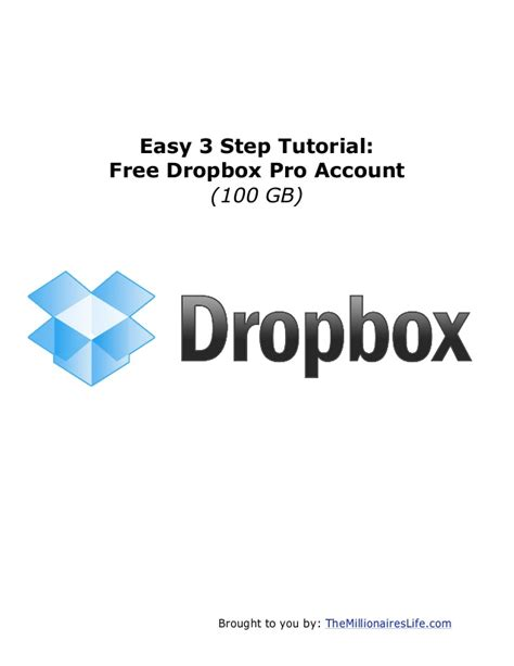 dropbox capacity free free dropbox pro 100 gb account in 3 simple steps