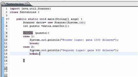 pattern java ignorecase programacion en java tutorial en espa 241 ol 9 select case