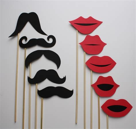 printable photo booth props on a stick photo booth wedding photo props mustache on a stick and