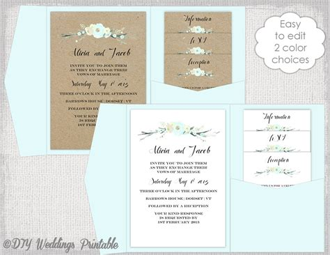 pocketfold wedding invitation template pocket wedding invitation template diy pocketfold wedding