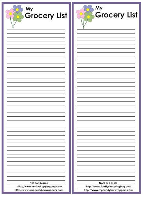 printable grocery list template 94 best images about organization on menu