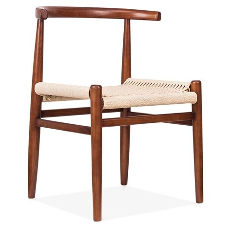 stuhl nordisch cult living nordic chair in walnut wood with weave seat