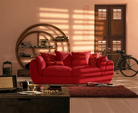 red sofa feng shui oriental interior design ideas and inspiration