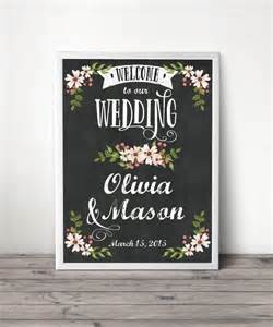 Bridal Shower Welcome Sign Template by Custom Chalkboard Welcome Sign Wedding Welcome Sign