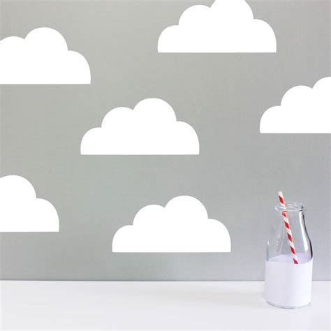 cloud stickers for walls children s cloud wall stickers by chip notonthehighstreet