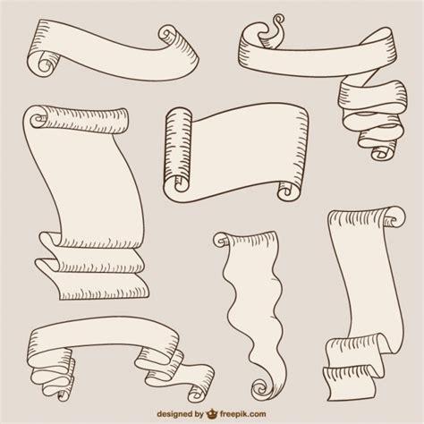 textbox horizontalscroll cintas de papel y pergaminos descargar vectores gratis