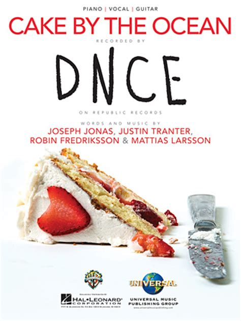 cake by the ocean lyric dnce dnce cake by the ocean sheet music at stanton s sheet