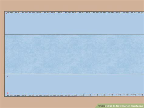 sewing bench cushions how to sew bench cushions with pictures wikihow