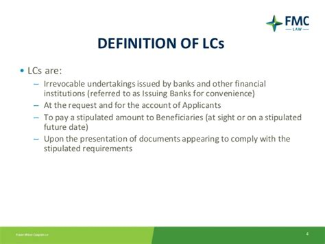 Letter Of Credit Number Meaning an introduction to letters of credit for banking lawyers