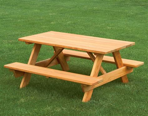 picnic bench table cypress kid s picnic table