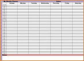 4 week planner expense report