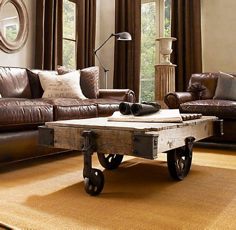 restoration hardware cart coffee table factory cart coffee table shanty 2 chic