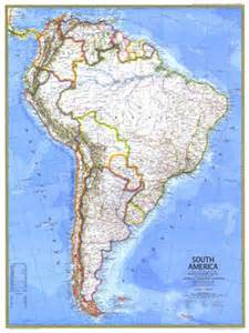 map of south america with rivers and mountains