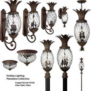 Bronze And Crystal Wall Sconces Hinkley Plantation Pineapple Outdoor Collection Brand