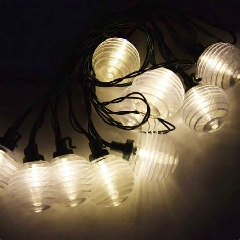10 Socket Solar String Light G40 Warm White Led Bulbs 12 Solar String Lights Warm White