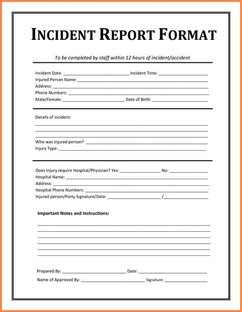 story report template 6 incident report template microsoft word progress report