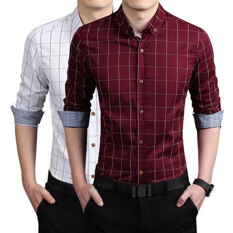 2015 new brand dress shirts shirts with sleeves 2015 new brand summer mens casual dress shirt cotton plaid