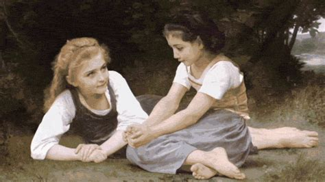 by william bouguereau two sisters renaissance paintings brought to life by rino stefano