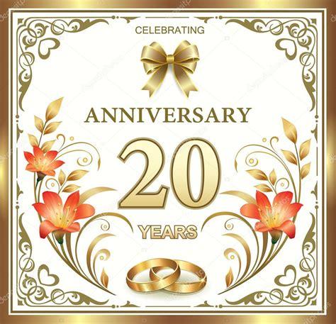 Wedding Anniversary Years by Wedding Anniversary 20 Years Stock Vector 169 Seriga 82147704