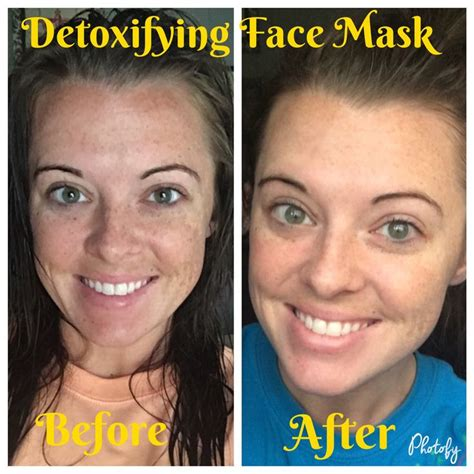 Whats In Younique Detox Mask by Before After Using The Bamboo Charcoal Detoxifying