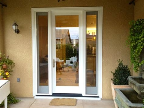 single patio door with side windows milgard ultra door with operable sidelights yelp