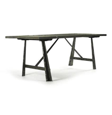 Chelsea Burnished Steel Modern Industrial Limed Oak Dining Limed Oak Dining Table