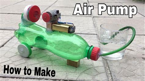 how to make a mini air compressor powerful air using plastic bottle tutorial