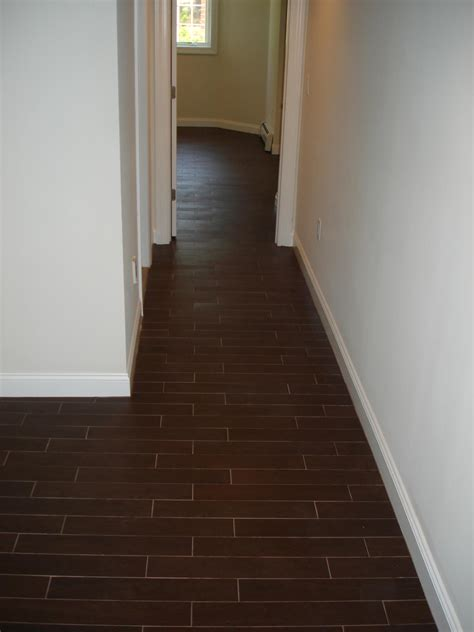 hard wood layouts wood tile floor set on thirds to mimmic a wood floor layout new jersey custom tile