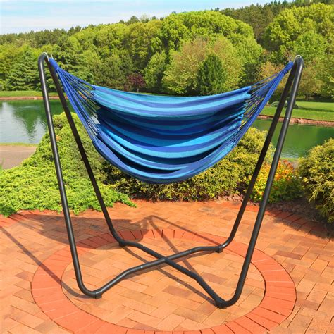 hammock swing sunnydaze hanging hammock chair swing with space saving
