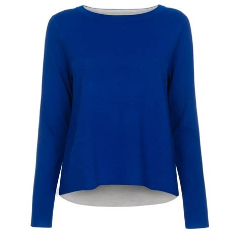 sweater and lyst paul smith s blue and grey reversible wool
