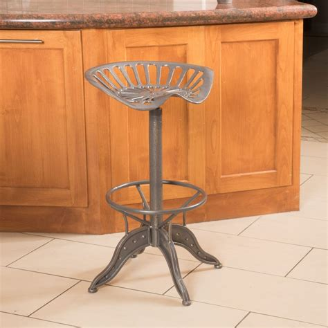 Tractor Seat Stools by Industrial Metal Design Adjustable Height Swivel Tractor