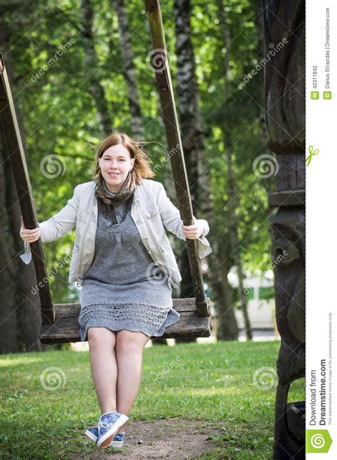 swing her woman swinging stock photo image 42311842