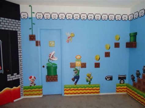 Home Decorating Paint by Super Mario Bros Theme Bedroom Theme Room Design