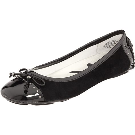sport ballet shoes ak klein womens buttons sport ballet flat in black