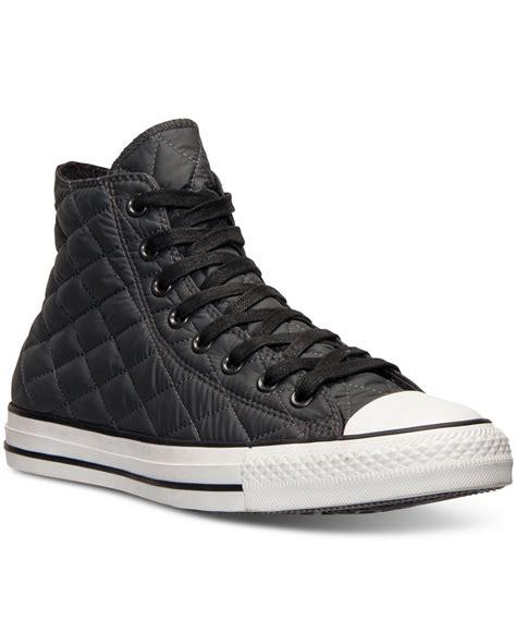 Sepatu Converse Black White Sneakers Casual converse s chuck all hi quilted casual sneakers from finish line in black for